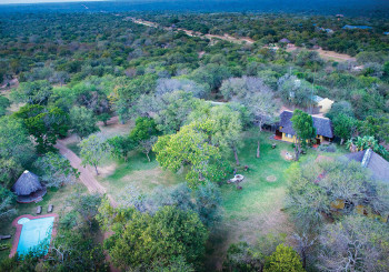 Giraffe Camp Arial Shot