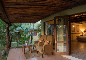 Motlala room patio with view of bedroom